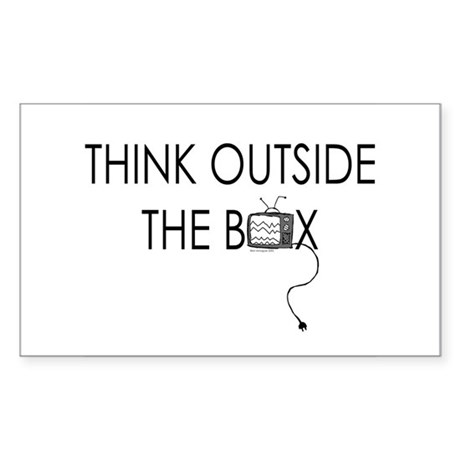 Think outside the box. Rectangle Sticker