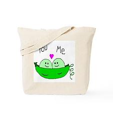 Cute Two peas in a pod Tote Bag
