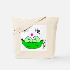 Cute Pea Tote Bag