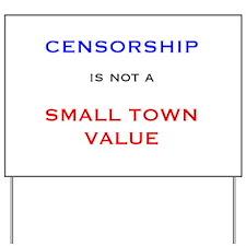 Cute Civil liberties Yard Sign