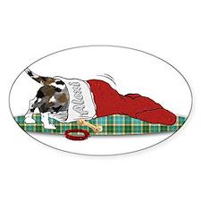 Catahoula Raiding Christmas S Oval Decal