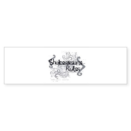 Shakespeare Rules Bumper Sticker (50 pk)