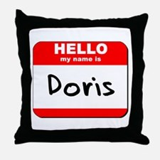 Hello my name is Doris Throw Pillow