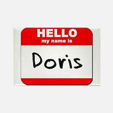 Hello my name is Doris Rectangle Magnet
