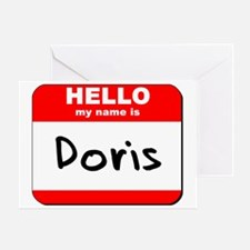 Hello my name is Doris Greeting Card