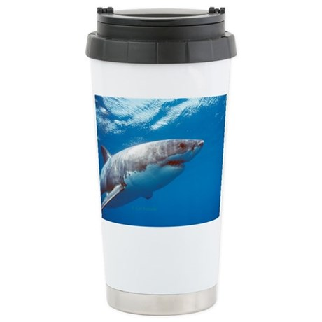 Great white shark portrait Stainless Steel Travel
