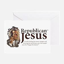 Republican Jesus Greeting Card