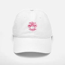 Pink Flamingo Abstract Baseball Baseball Cap