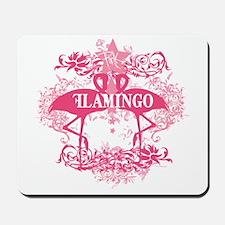 Pink Flamingo Abstract Mousepad