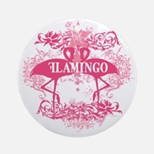 Pink Flamingo Abstract Ornament (Round)