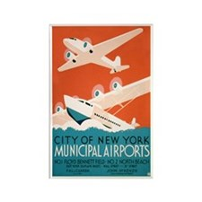 NY City Municipal Airports Rectangle Magnet