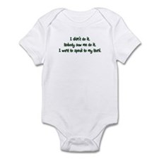 Want to Speak to Nani Infant Bodysuit