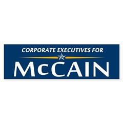 Corporate Executives for McCain Bumper Bumper Sticker