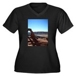 moab utah Women's Plus Size V-Neck Dark T-Shirt