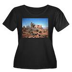 moab utah Women's Plus Size Scoop Neck Dark T-Shir