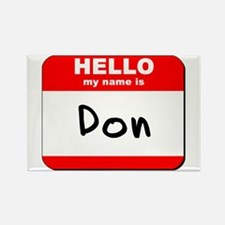 Hello my name is Don Rectangle Magnet