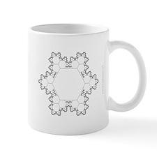 Fractal Corner-Cluster Snowflake Mug
