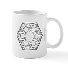 Hexagonal Fractal Tiling Mug