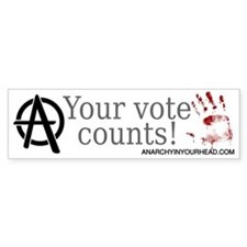 Your Vote Counts Bumper Bumper Sticker