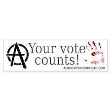 Your Vote Counts Bumper Sticker (10 pk)