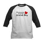 Everyone loves a Jewish Boy Kids Baseball Jersey