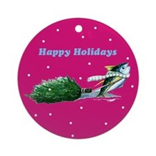 yellowfin tuna Ornament (Round)
