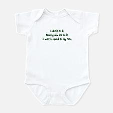 Want to Speak to Oma Infant Bodysuit