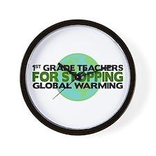 1st Grade Teachers Stop Global Warming Wall Clock