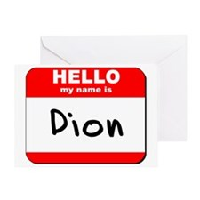 Hello my name is Dion Greeting Card