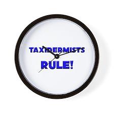 Taxidermists Rule! Wall Clock