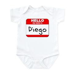 Hello my name is Diego Infant Bodysuit