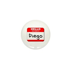 Hello my name is Diego Mini Button (10 pack)