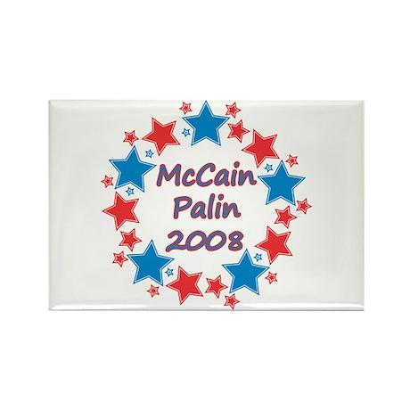McCain Palin 2008 Stars Rectangle Magnet (100 pack