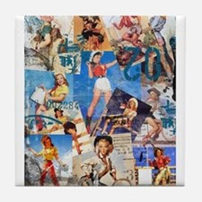 Cowgirl Pin-Ups No.1 Tile Coaster