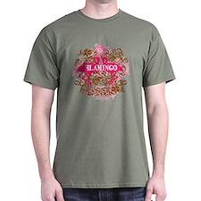 Pink Flamingo Abstract T-Shirt