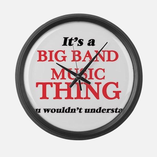 It's a Big Band Music thing, Large Wall Clock