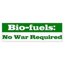 Bio-fuels Bumper Bumper Sticker