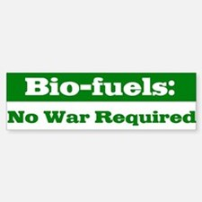 Bio-fuels Bumper Car Car Sticker