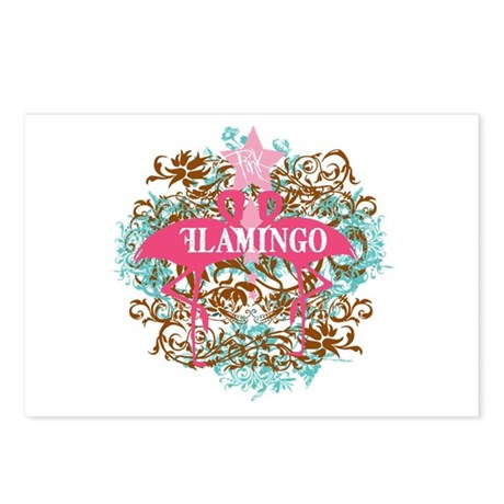 Pink Flamingo Abstract Postcards (Package of 8)