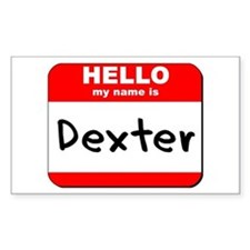 Hello my name is Dexter Rectangle Decal