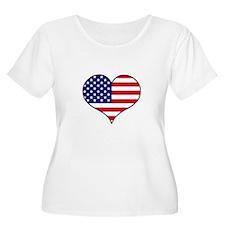 American Flag Heart T-Shirt