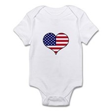American Flag Heart Infant Bodysuit