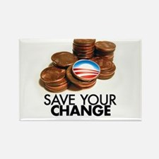 save your change Rectangle Magnet