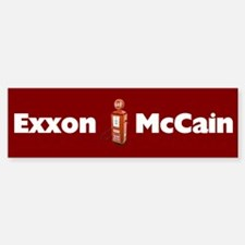 Exxon McCain Bumper Bumper Bumper Sticker