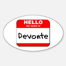 Hello my name is Devonte Oval Decal