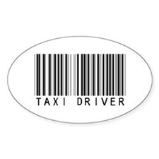 Taxi Driver Barcode Oval Decal
