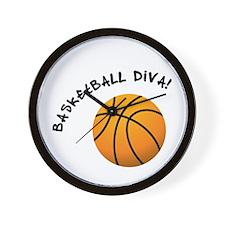 B-ball Diva Wall Clock