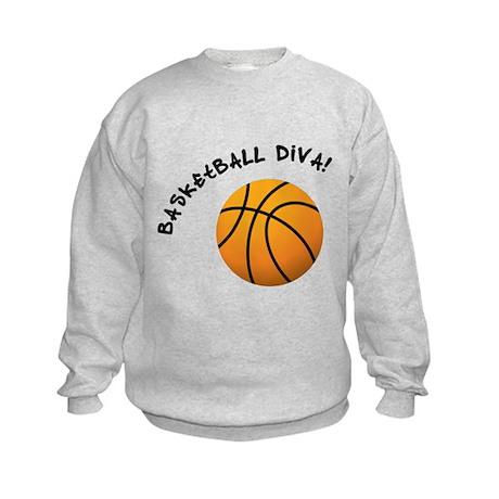 B-ball Diva Kids Sweatshirt