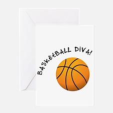 B-ball Diva Greeting Card