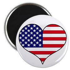 """American Flag Heart 2.25"""" Magnet (10 pack)"""